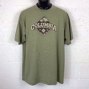 Columbia Green Graphic Tee Size XL